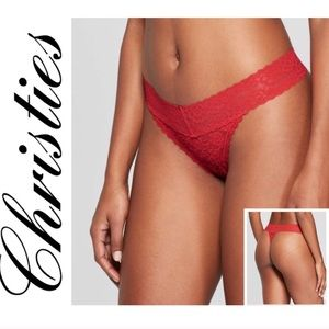 New Bundle - 3 Christie's Shimmer Lace Thongs